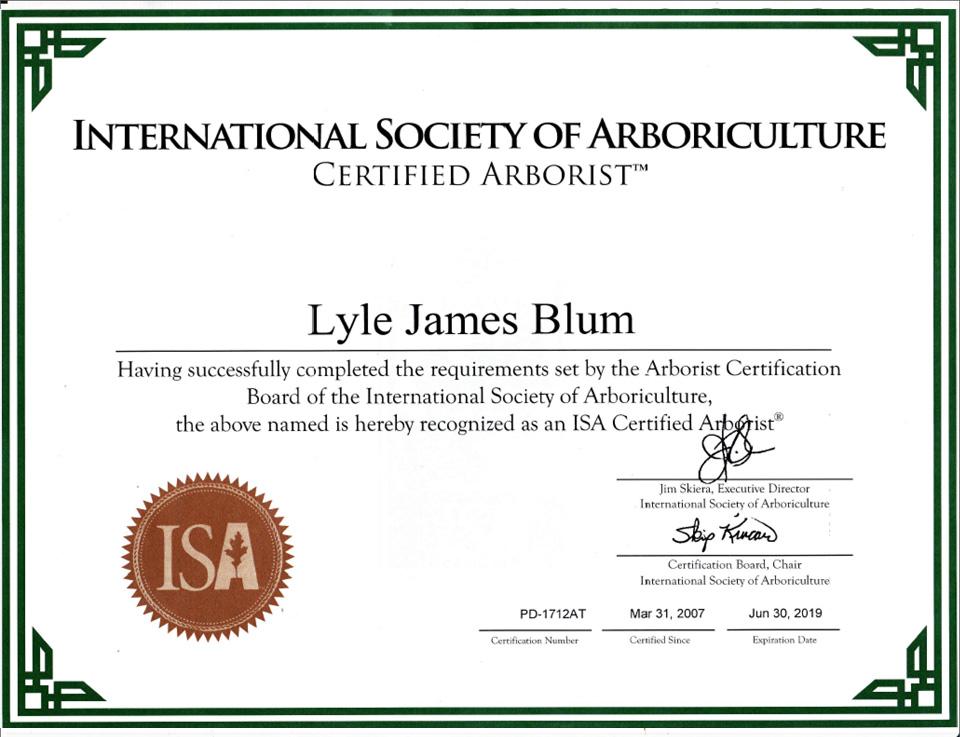Lyle Blum Tree Service
